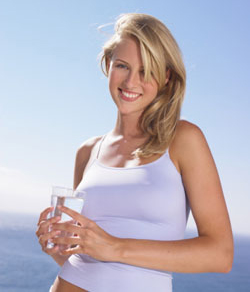 Benefits of drinking alkaline water happy girl